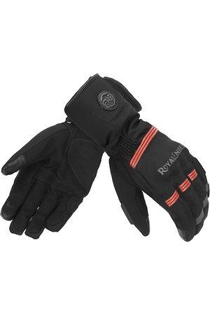 Royal Enfield Men Gloves - Men Black Solid Leather Rambler V2 Riding Gloves