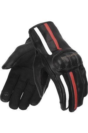 Royal Enfield Men Black & Red Gritty Leather Riding Gloves