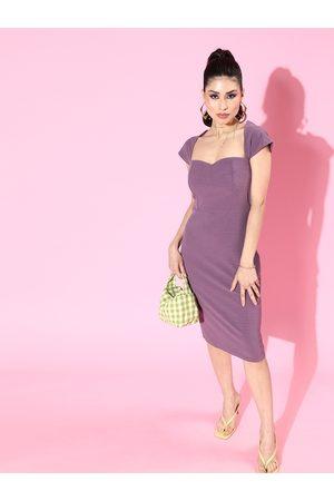 Athena Lavender Scuba Bodycon Dress