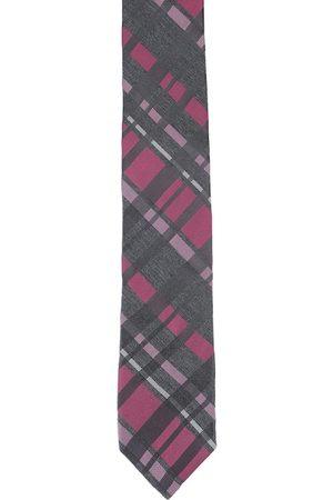 Alvaro Castagnino Men Black & Purple Printed Skinny Tie