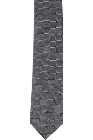 Alvaro Castagnino Men Grey Printed Skinny Tie