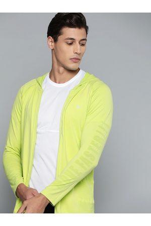 HRX by Hrithik Roshan Running Men Love Bird Seamless Solid Jacket