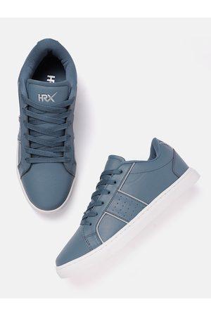 HRX by Hrithik Roshan Men Sneakers - Men Blue Solid Skate Street Sneaker
