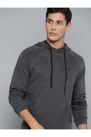 HRX by Hrithik Roshan Lifestyle Men Anthra Melange Sweatshirts