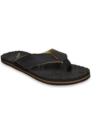 United Colors of Benetton Men Black Textured Flip Flops