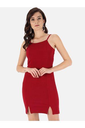 Trend Arrest Red Scuba Bodycon Dress