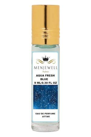 Menjewell Aqua Fresh Blue Natural Eau de Parfum Attar 9ml