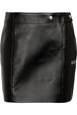 OFF-WHITE Leather miniskirt