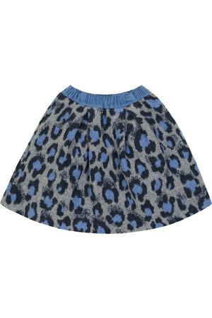 PAADE Leopard-print wool and cotton-blend skirt