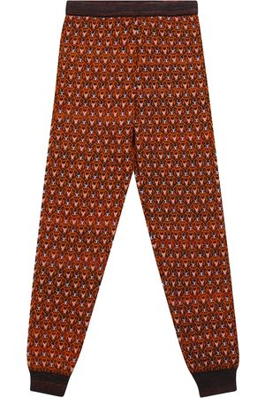PAADE Girls Formal Trousers - Patterned wool-blend leggings