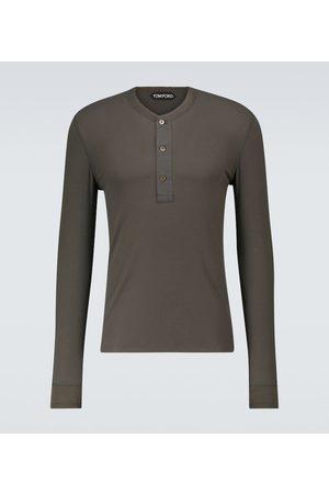 Tom Ford Men Long Sleeve - Long-sleeved Henley T-shirt