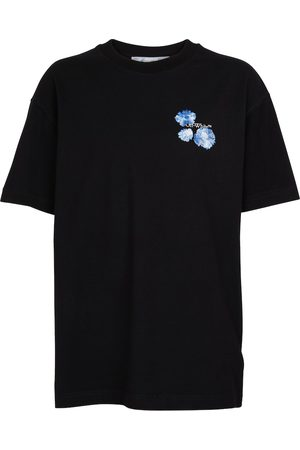 OFF-WHITE Women T-shirts - Embroidered-logo cotton T-shirt