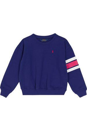 Ralph Lauren Girls Sweatshirts - Cotton-blend fleece sweatshirt