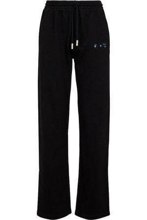 OFF-WHITE Women Sports Trousers - Logo[printed cotton sweatpants