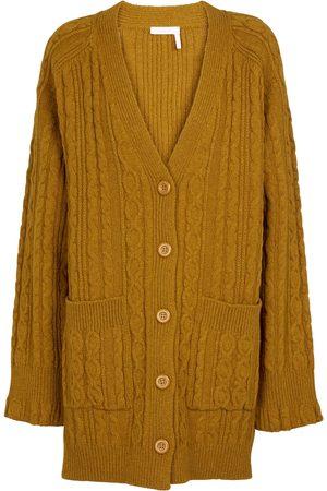 Chloé Women Cardigans - Cable-knit wool-blend cardigan