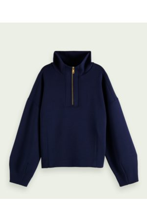 Scotch and Soda Navy Structured Anorak Sweater