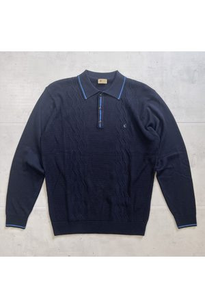 Gabicci Vintage Cagney Knitted Polo - Navy