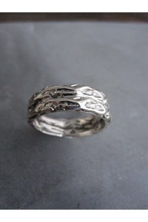 Window Dressing the Soul WDTS Textured double band, 925 ring