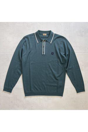 Gabicci Vintage Lineker Knitted Polo - Juniper