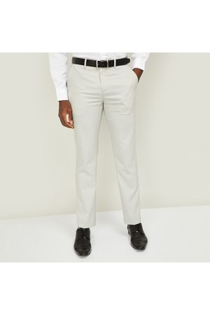Code Men Checked Slim Straight Formal Trousers