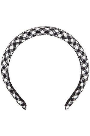 Miu Miu Gingham Headband in Nero & Bianco
