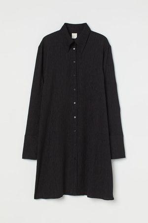 H&M Crinkled shirt dress