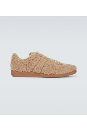 Maison Margiela Men Sneakers - Replica faux-shearling sneakers