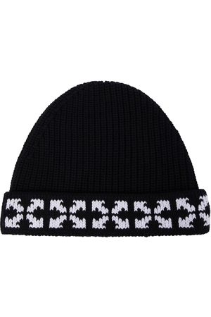 OFF-WHITE Boys Beanies - Arrows knitted cotton beanie