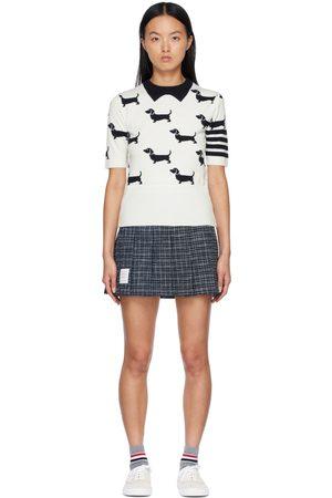 Thom Browne Women Short Sleeve - Hector 4-Bar Short Sleeve Sweater