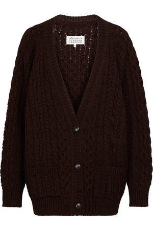 Maison Margiela Cable-knit wool cardigan