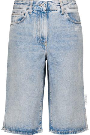 OFF-WHITE High-rise denim shorts