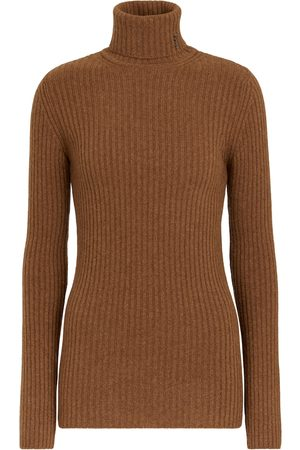 Saint Laurent Ribbed-knit wool and cashmere turtleneck sweater
