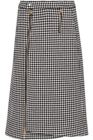 Dorothee Schumacher Softness houndstooth wool skirt