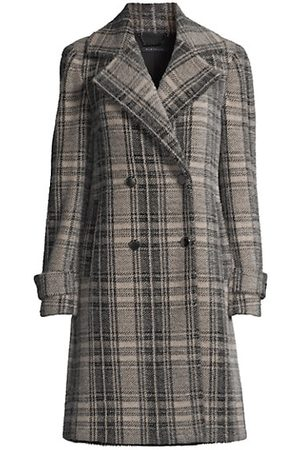 ELIE TAHARI Women Trench Coats - Plaid Double-Breasted Duster Coat