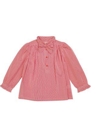 Caramel Girls Shirts - Folsom striped cotton blouse