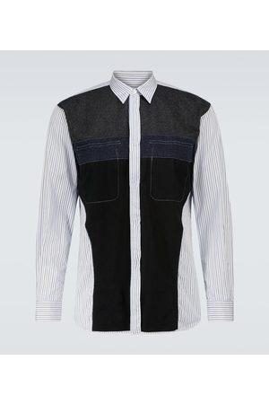 Comme des Garçons Men Long Sleeve - Deconstructed cotton and wool shirt