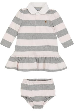 Ralph Lauren Baby Sets - Baby striped cotton dress and bloomers set