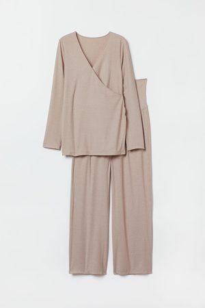 H&M MAMA Ribbed pyjamas