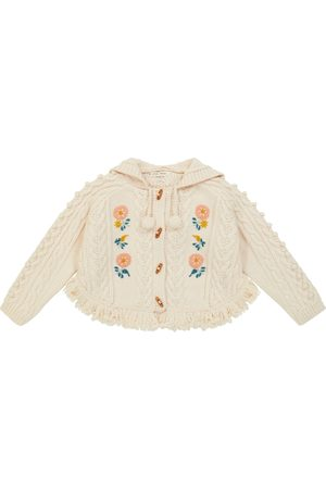 Louise Misha Clara embroidered cable-knit cape
