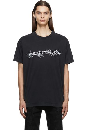 Givenchy Men Short Sleeve - Oversized Barbed Wire Flocked T-Shirt