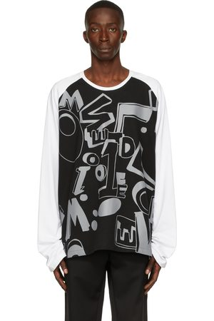 We11 Done & White Spread Logo Long Sleeve T-Shirt