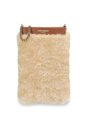 Saint Laurent Wallets - Mini Pac Pac Shearling Pouch-On-Chain