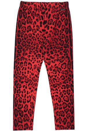 Dolce & Gabbana Leopard Print Cotton Leggings