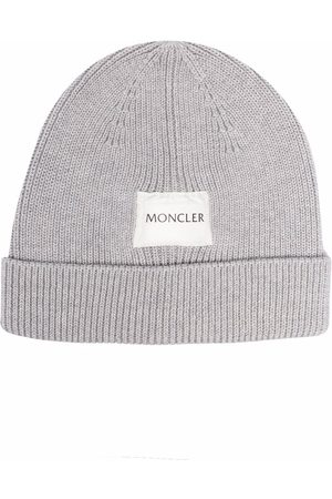 Moncler Beanies - Ribbed logo-patch beanie