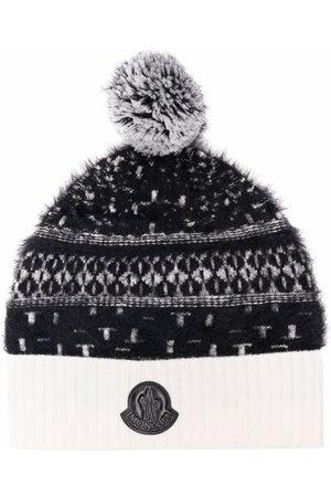 Moncler Enfant Boys Beanies - Logo-plaque wool beanie