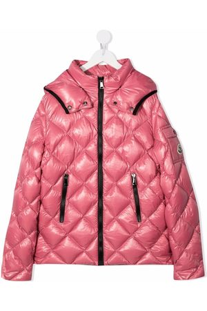 Moncler Girls Jackets - Quilted hooded down jacket