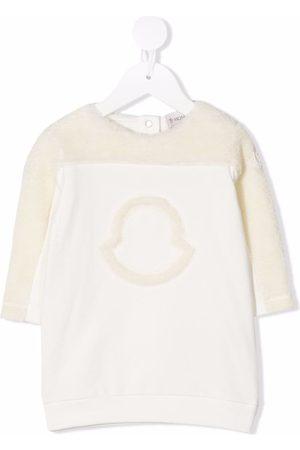 Moncler Logo-detail long-sleeved jumper dress