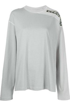 Y / PROJECT Women Long Sleeve - Two-tone clip shoulder T-shirt