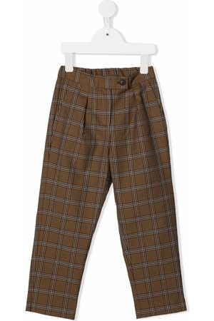 BONPOINT Girls Formal Trousers - Check tailored trousers