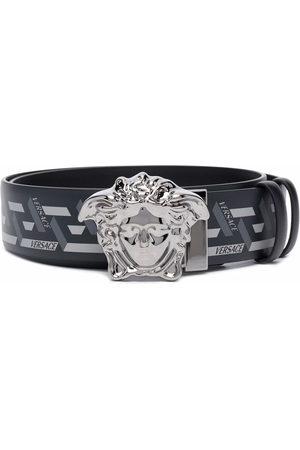 VERSACE Men Belts - Medusa Head Greca-print belt